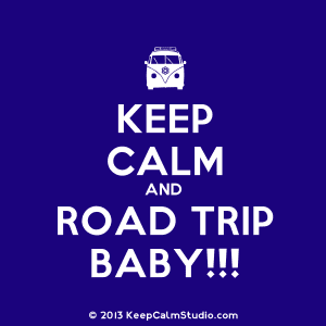"This says it all...use these tips to ""keep calm and road trip"" on your next road trip adventure!"