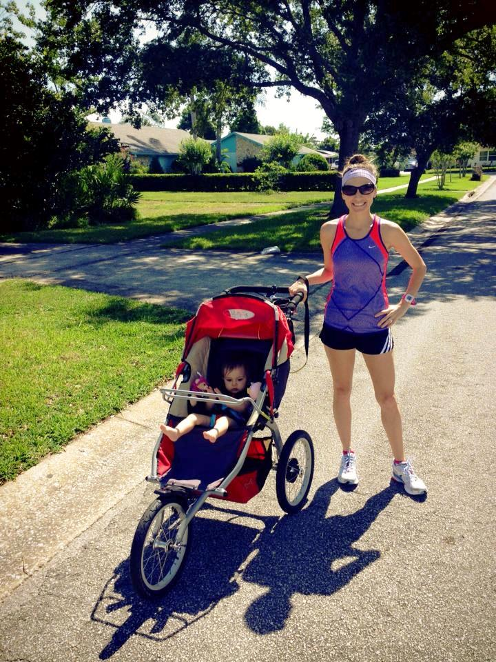 The BOB running stroller - me with my princess!