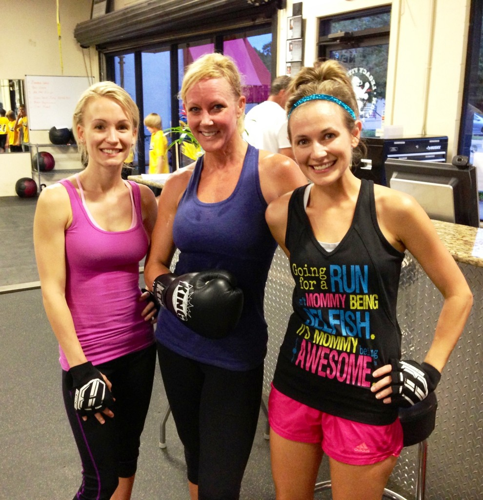 After our kickboxing class with the owner, Erica.