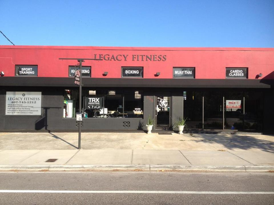 View of Legacy Fitness from Orange Ave. in Winter Park