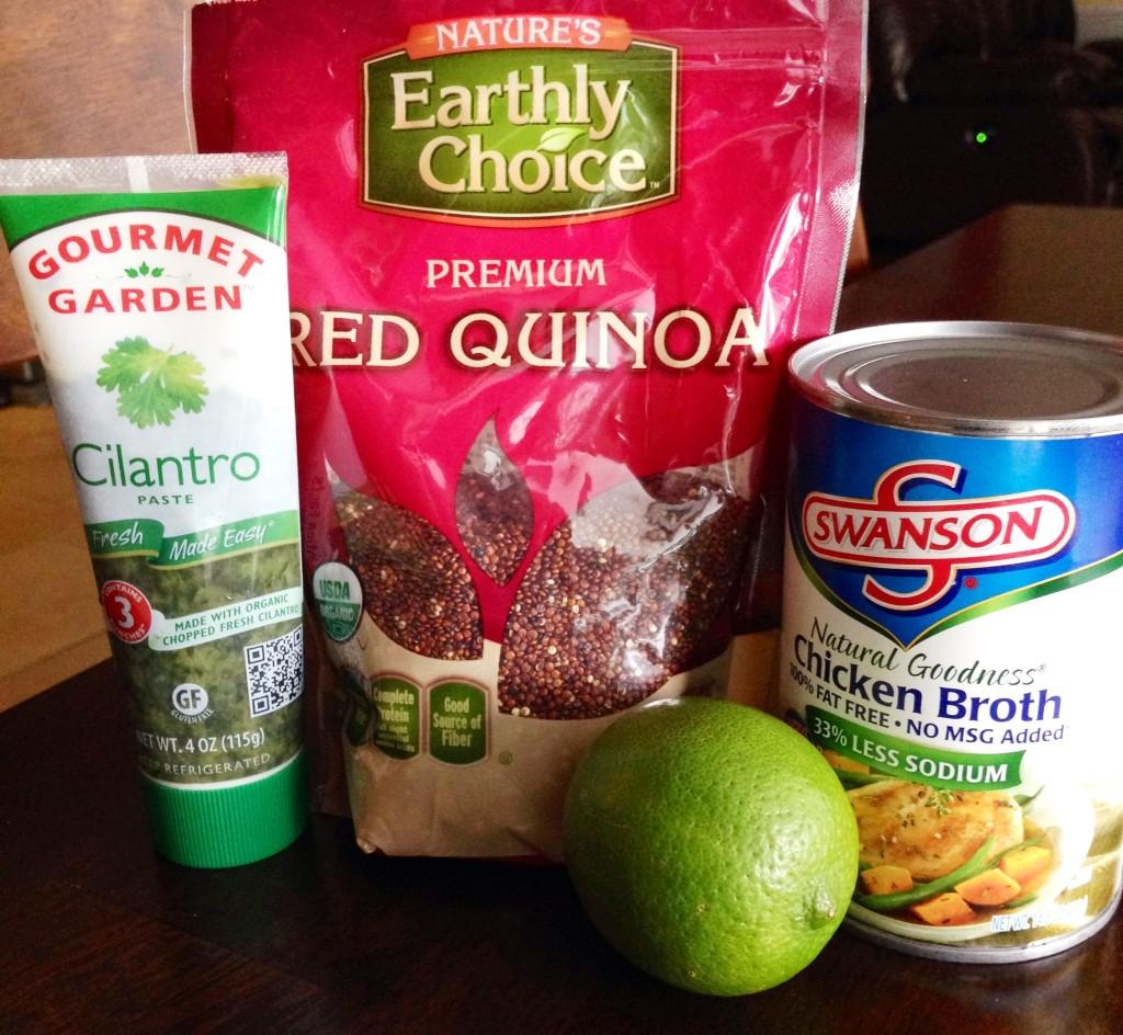 Ingredients for Cilantro-Lime Quinoa