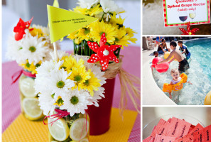 """Festival decor and signage was designed to capture the """"family"""" theme. Center pieces included quotes about children, family and friends."""