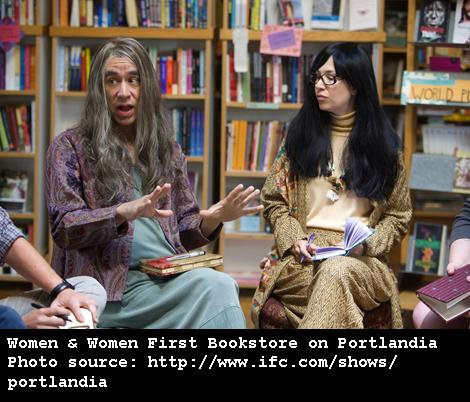 Women and Women First Bookstore on Portlandia