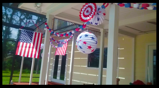 Special thanks to my daughter for helping make the red, white & blue paper chain!