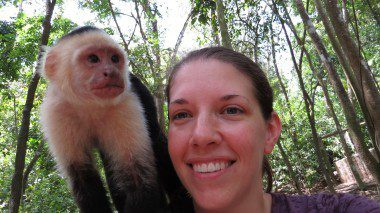 Capuchin selfie! Met this guy on an excursion to Isla Roatan, Honduras. Got back on board with a strange rash...still don't know what it was.  I killed it with my essential oils, but that's for another post.