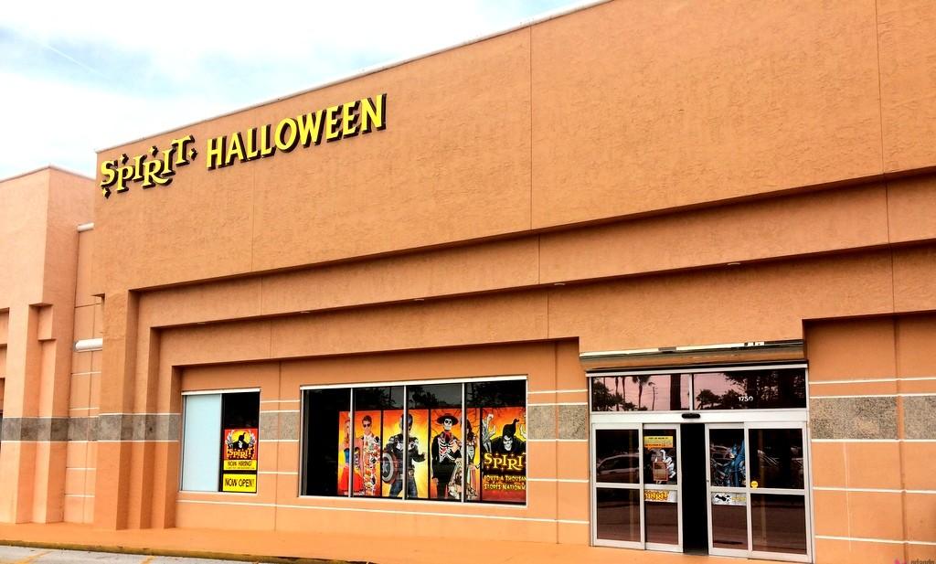 Outside of Spirit Halloween