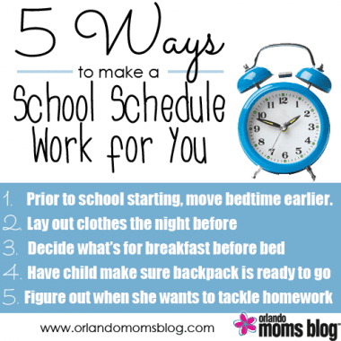 5 Ways to make a School Schedule Work for You