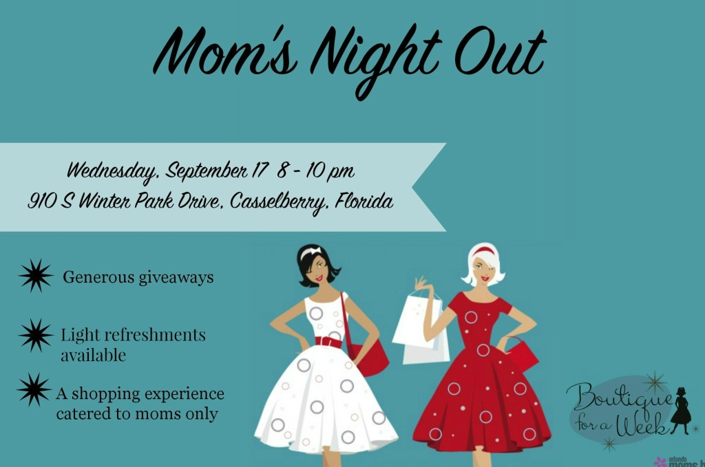 Boutique for a Week Moms Night Out