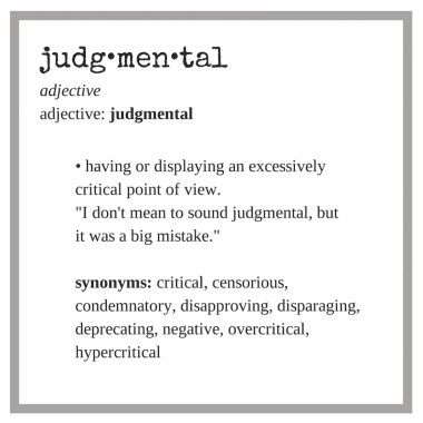 judgmental-definition