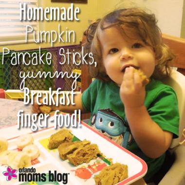 Homemade Pumpkin Pancake Sticks, YUMMY Breakfast finger-food!