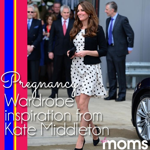 Pregnancy wardrobe inspiration from Kate Middleton