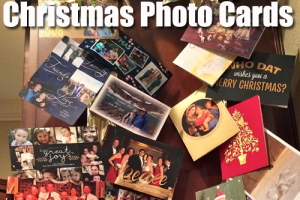 Displaying Christmas Photo Cards