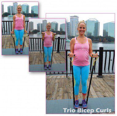 Trio Bicep Curls: 15 reps