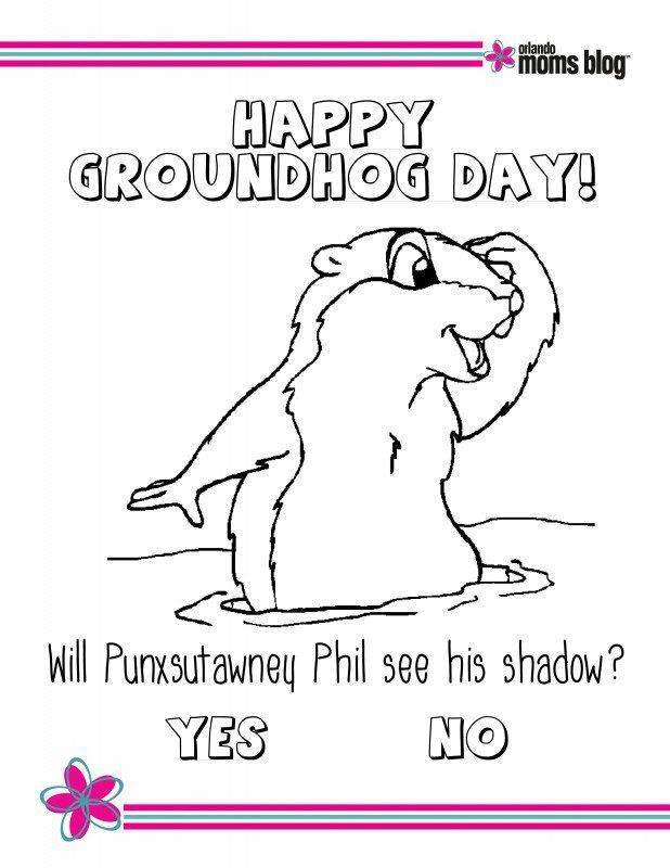 Groundhog Day Printable pg1
