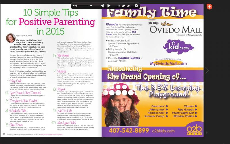 Ten Tips for Positive Parenting in 2015