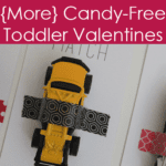 {More} Candy-Free Toddler Valentines