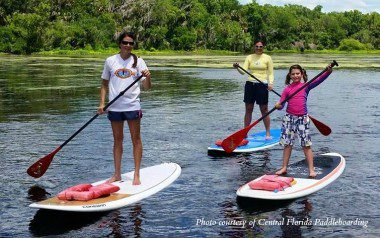 central FL paddleboard family wekiva