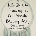 Little Steps to Throwing an Eco-Friendly Birthday Party