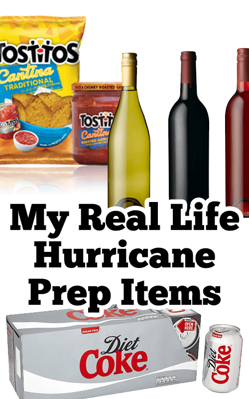 My Real Life Hurricane Prep Items