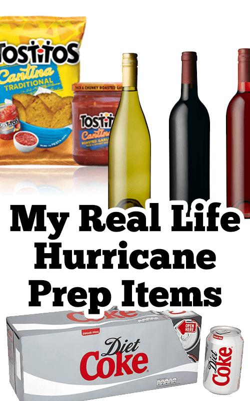 My Real Life Hurricane Prep Items