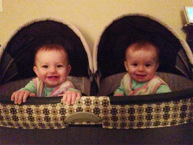 Twins in Pack n play