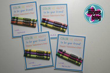candy free valentines toddler valentine crayon