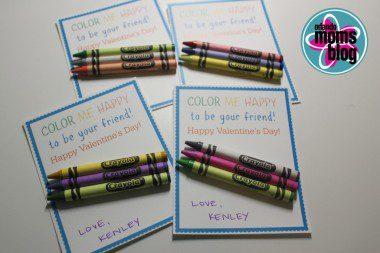 candy free valentines crayon valentine