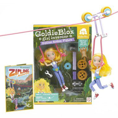 Goldie Blox Zip Lining into my heart.
