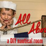 All Aboard! A DIY nautical bedroom for the kids