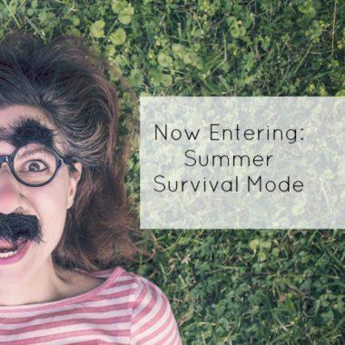 Now Entering Summer Survival Mode - square