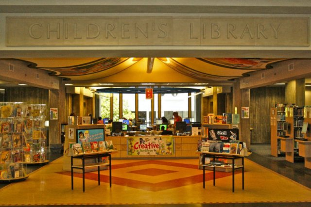 The Children's Library at the Downtown branch is a charming place for toddlers, kids, and tweens to find some reading inspiration.