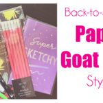 Back-to-School: Paper Goat Post Style