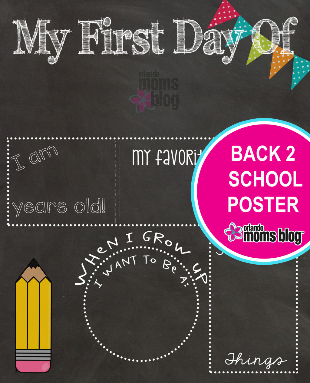 Back to school first day printable