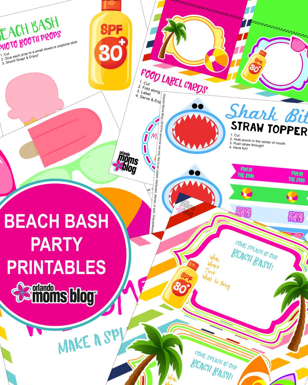 Beach Printables TITLE pg