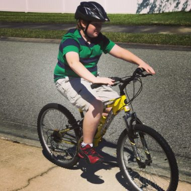 My oldest and his new bike!