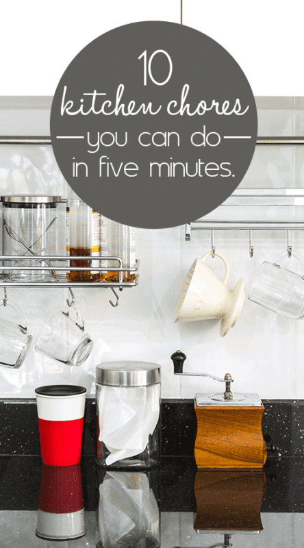 ​A watched pot never boils: 10 kitchen chores you can do in five minutes