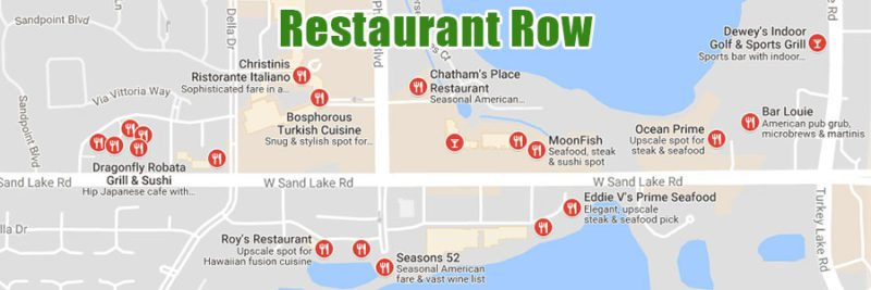 Dr. Phillips and Windermere Florida Restaurant Row