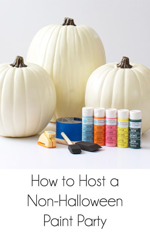 How to Host a Non-Halloween Paint Party