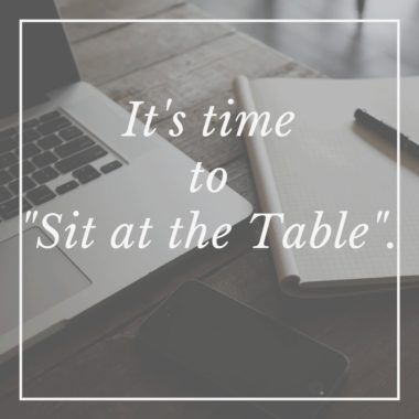 """It's Time To """"Sit At The Table"""""""