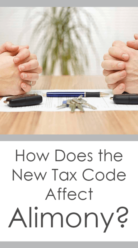 How Does the New Tax Code Affect Alimony?