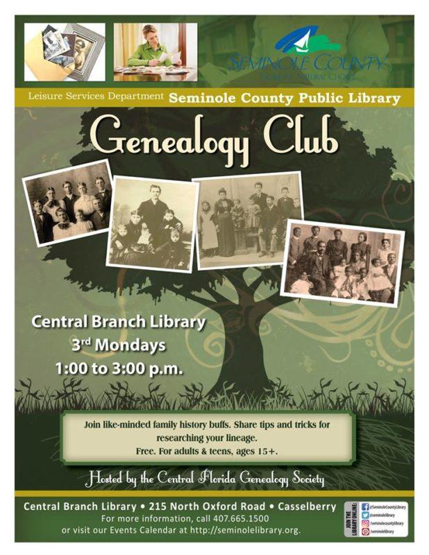 orlando moms blog seminole county library genealogy club