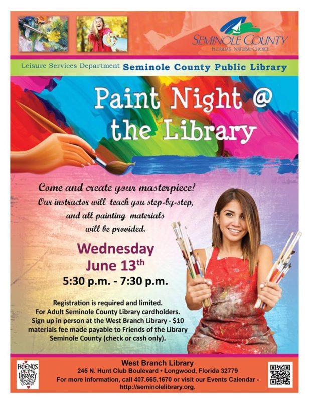 orlando moms blog seminole county library paint night