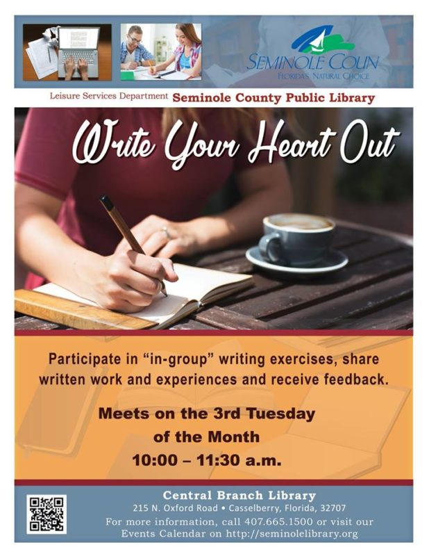 orlando moms blog seminole county library write your heart out