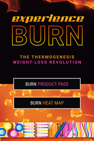 Experience BURN - The Thermogenesis Weight-Loss Revolution (product page and heat map)