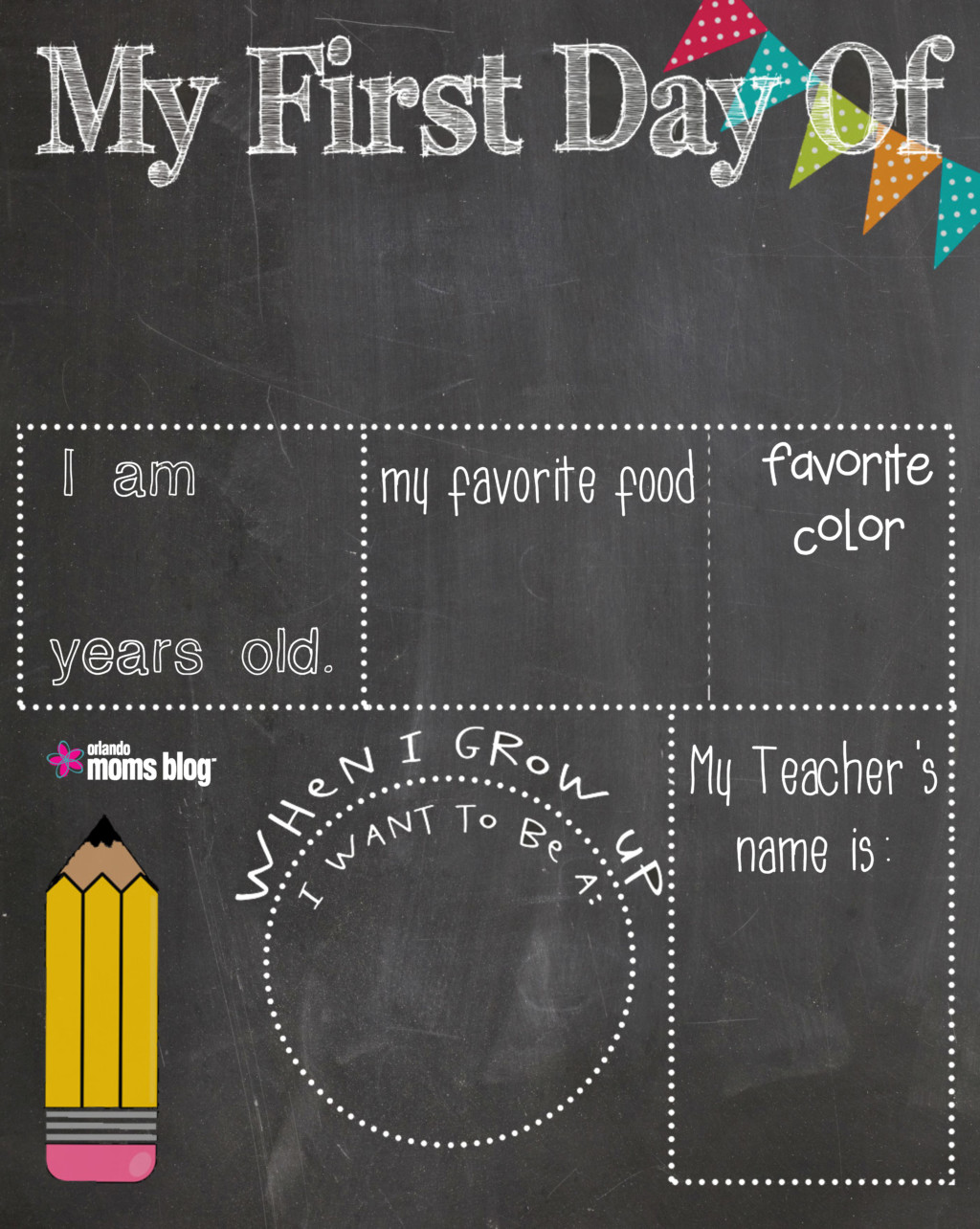 graphic relating to First Day of School Printable named Initial Working day Of College Printable!