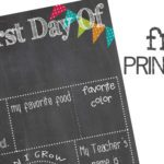 First Day Of School Printable!