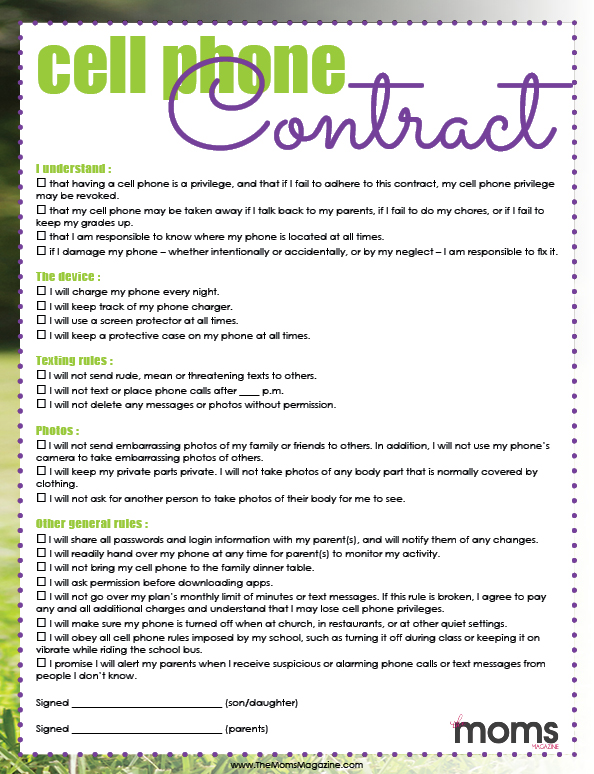 image regarding Printable Cell Phone Contract for Tweens known as Signing a Cellular Cellular phone Deal! Free of charge PRINTABLE