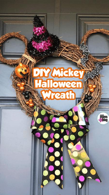 DIY Mickey Halloween Wreath