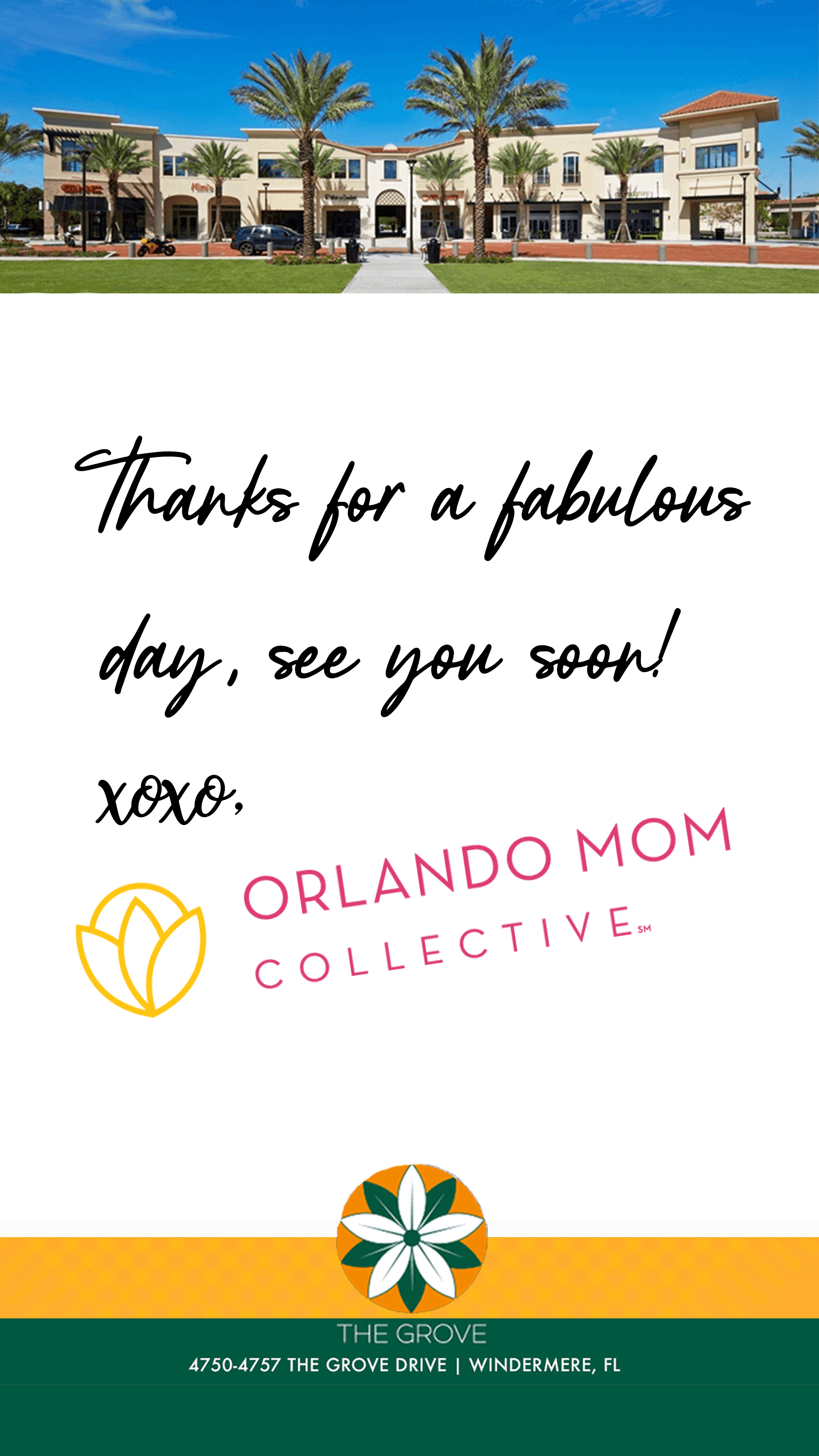 The Grove Orlando and Orlando Mom Collective