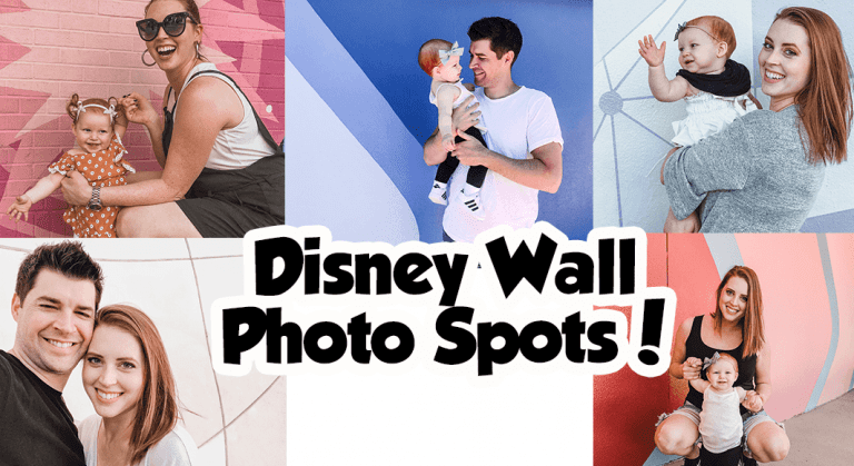 Disney Wall Photo Spots!